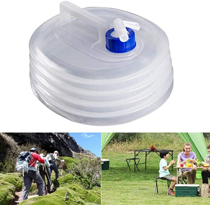 SWANTIS Portable Food Grade Collapsible Water Container Premium LDPE-4 Material Space-Saving Folding Water Bottles for Outdoor & Survival KIT