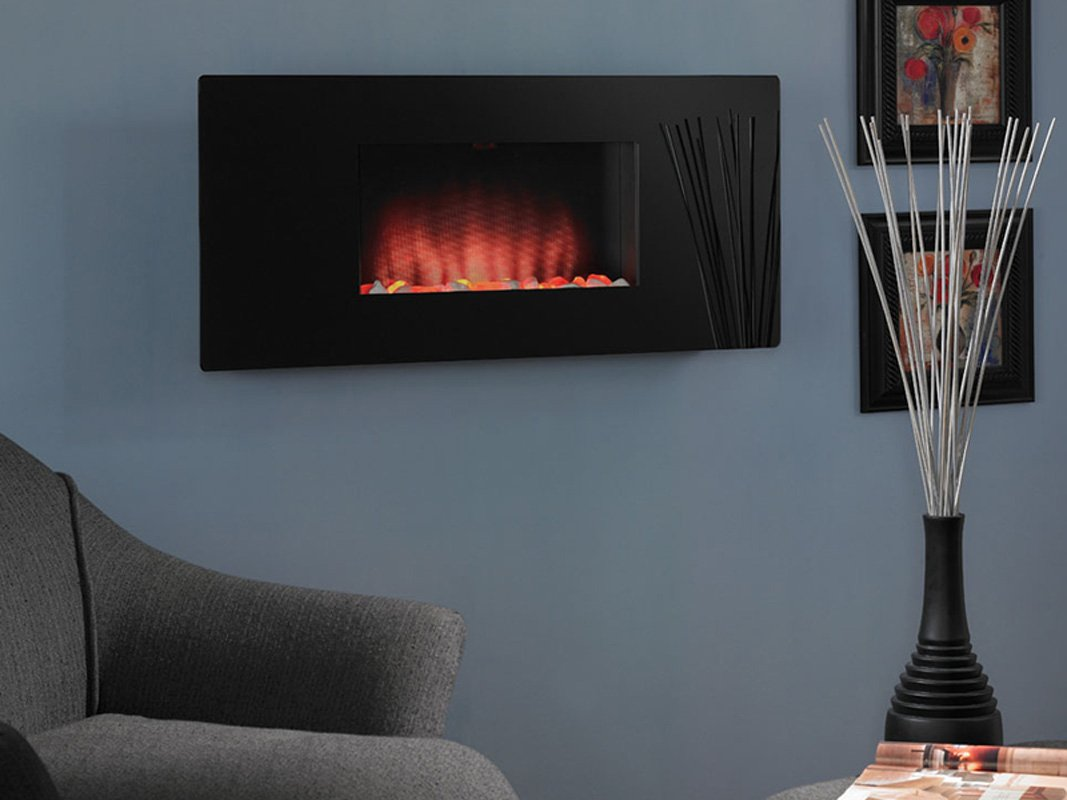 Amazoncom Zen Wall Mounted Electric Fireplace Home Kitchen