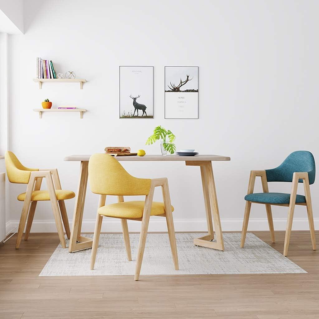 Silla de comedor SLL, Escritorio Silla Simple, Respaldo Creativo, Silla del Ocio, hogar for Adultos Moderno (Color : Dark Gray) Blue