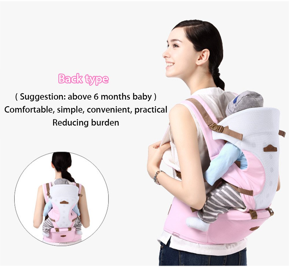 Baby Hip Seat Waist Stool Baby Wrap Carrier Baby Carrier with Hip Seat Purple Ergonomic Baby Carrier Backpack Baby Carriers Front and Back for Men and Women