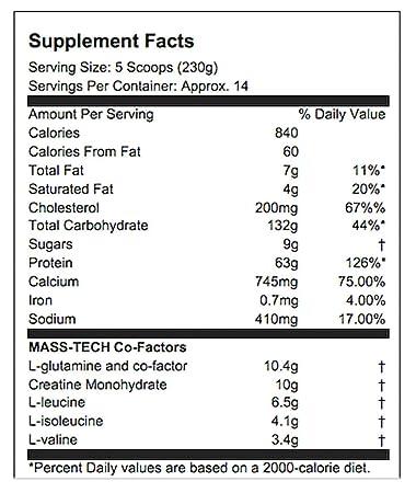 Muscletech Mass Tech Performance 3,2 kg Fresa: Amazon.es: Salud y cuidado personal