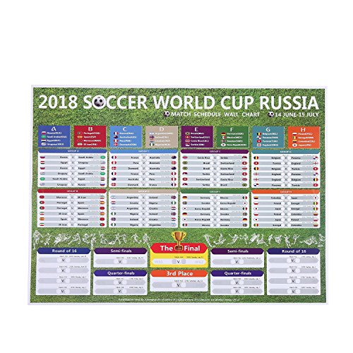 kobwa russia 2018 world cup stickers wall chart posterfootball tournament schedulesoccer calendar barparty decorations 57 x 42 cm world cup poster