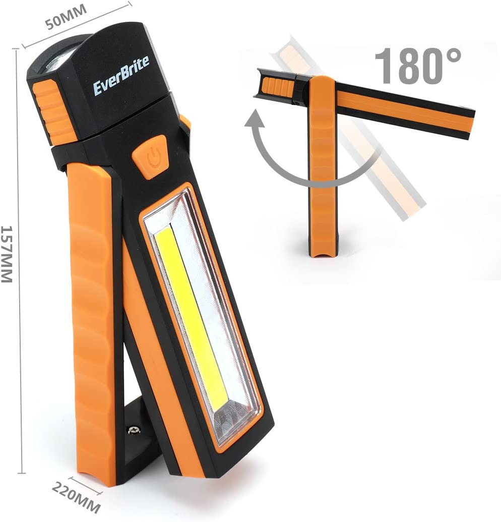 Everbrite 2 in 1 LED Work Light Lantern Adjustable with Magnetic /& Hook for Camping Outdoor Emergence 2 Pack