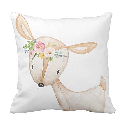 Amazon Emvency Throw Pillow Cover Floral Bohemian Boho Woodland Amazing Baby Girl Decorative Pillows