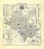 MAP 1909 WELLER WASHINGTON DC PRESIDENTIAL INAUGURATION REPLICA PRINT PAM2020 by Large Posters