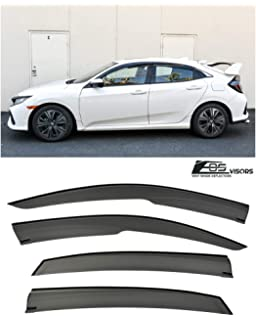 Extreme Online Store EOS Visors JDM Mugen Tape-On Style Smoke Tinted Side Vents Rain