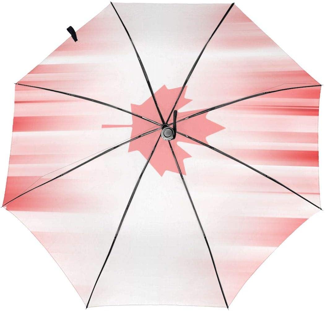 Maple Leaf Automatic Tri-Fold Umbrella Parasol Sun Umbrella Sunshade