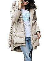 Kangwoo Women's Winter Puffer Down Coat Hooded Long Parka Jacket