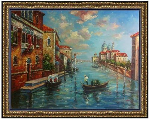 Venice Canal scenic City SINGLE CANVAS WALL ART Picture Print VA