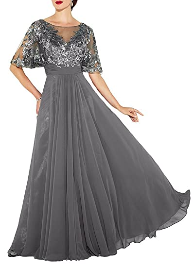 YOUAREFACNY Womens Long Sleeves Mother of The Bride Dress Lace Bridesmaid Gowns