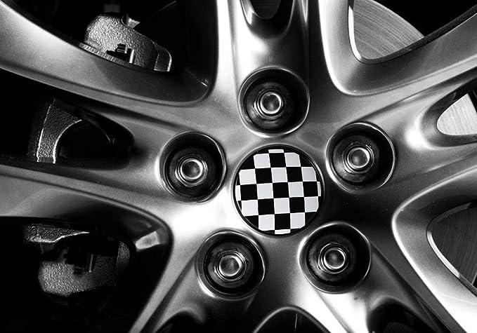 Tapacubos de aluminio F1 de 56,5 mm para Audi A3 Citroen C4 Peugeot 308 407 BMW F10 Ford Focus Seat Leon Hyundai: Amazon.es: Bricolaje y herramientas