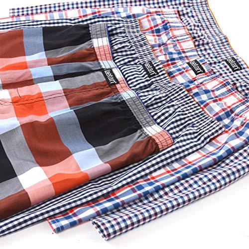 (LAETAN Men's 4 Pack Soft Cotton Woven Boxer Short (LARGE Assorted Multicolor))