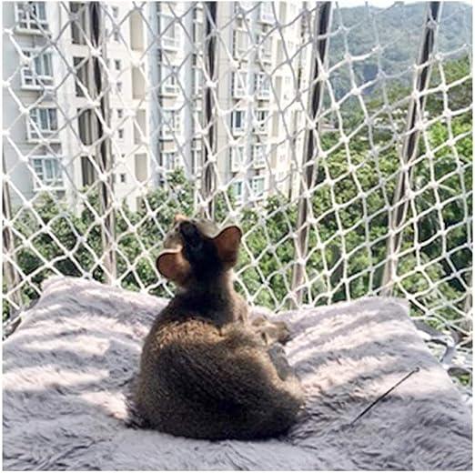 ANQI - Red de seguridad para mascotas para gatos, protección anticaídas, cuerda de nailon para escaleras, cuerda de escalada, red para remolque de carga de camión, red de decoración de pared: Amazon.es: