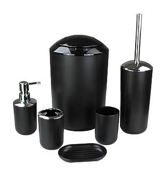 Set de 6 accesorios para el cuarto de baño GMMH, para cepillos de dientes, para el inodoro, para el jabón: Amazon.es: Hogar