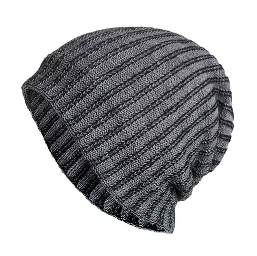 XOWRTE Unisex Women Men Winter Baggy Weave Skull Crochet Wool Knit Ski  Beanie Cap Hat on ... 9afa7d779513