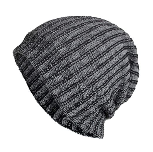 5aa1a8355be XOWRTE Unisex Women Men Winter Baggy Weave Skull Crochet Wool Knit Ski Beanie  Cap Hat at Amazon Women s Clothing store