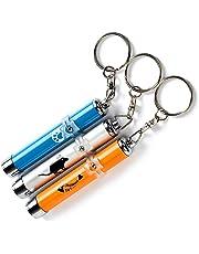 Surenhap Interaktives Spielzeug für Katzen, 3Pcs Mini Taschenlampe 3 Verschiedene Muster Katze Fang LED Stifte Spielzeug für Katzen Training Scratch Werkzeug