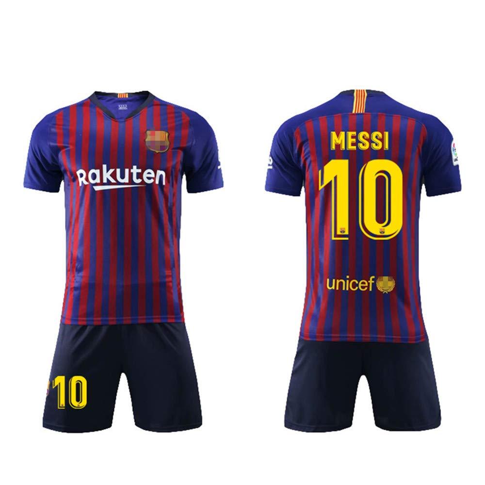 Daoseng Camiseta Jersey Futbol Barcelona 2018-2019 Traje de niños Manga  Corta + Pantalones Cortos  Amazon.es  Deportes y aire libre a7e1060b5c4c6