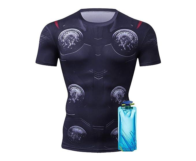 Amazon.com: Camiseta de compresión Thor Superhero Running ...