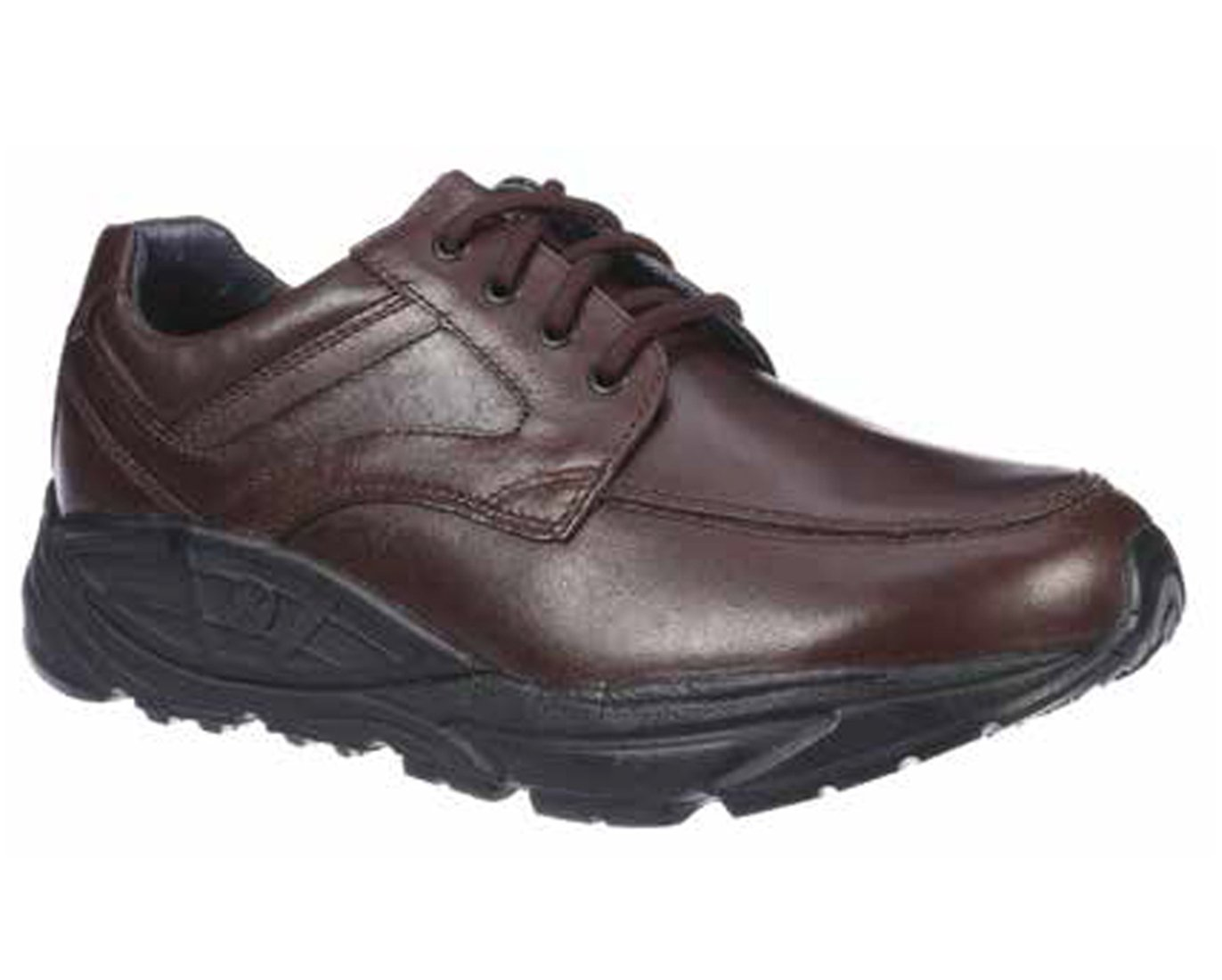 Xelero Oracle II Men's Comfort Therapeutic Extra Depth Casual & Hiking Shoe Leather Lace-up 8 D(M) US Brown