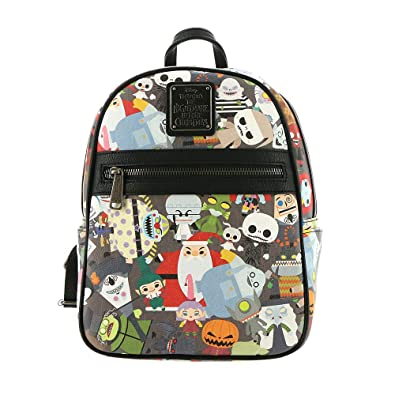 8af59d126b5 Amazon.com  Loungefly x Nightmare Before Christmas Chibi Character Mini  Backpack (One Size