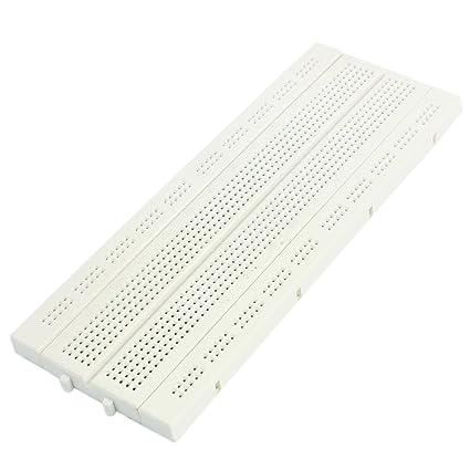 sourcingmap® Tablero de Circuitos BB-01 Blanco 740 Prueba Punto de unión desarrollar DIY