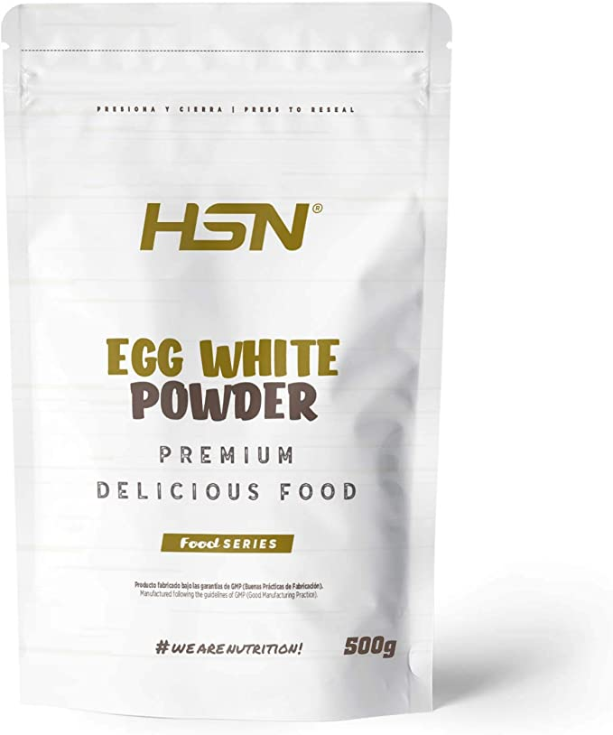 Albumina de Huevo de HSN | 100% Clara de Huevo en Polvo Deshidratada | Proteína Natural | Sin Grasas, Sin Colesterol, Vegetariano, Sin Gluten, Sin ...