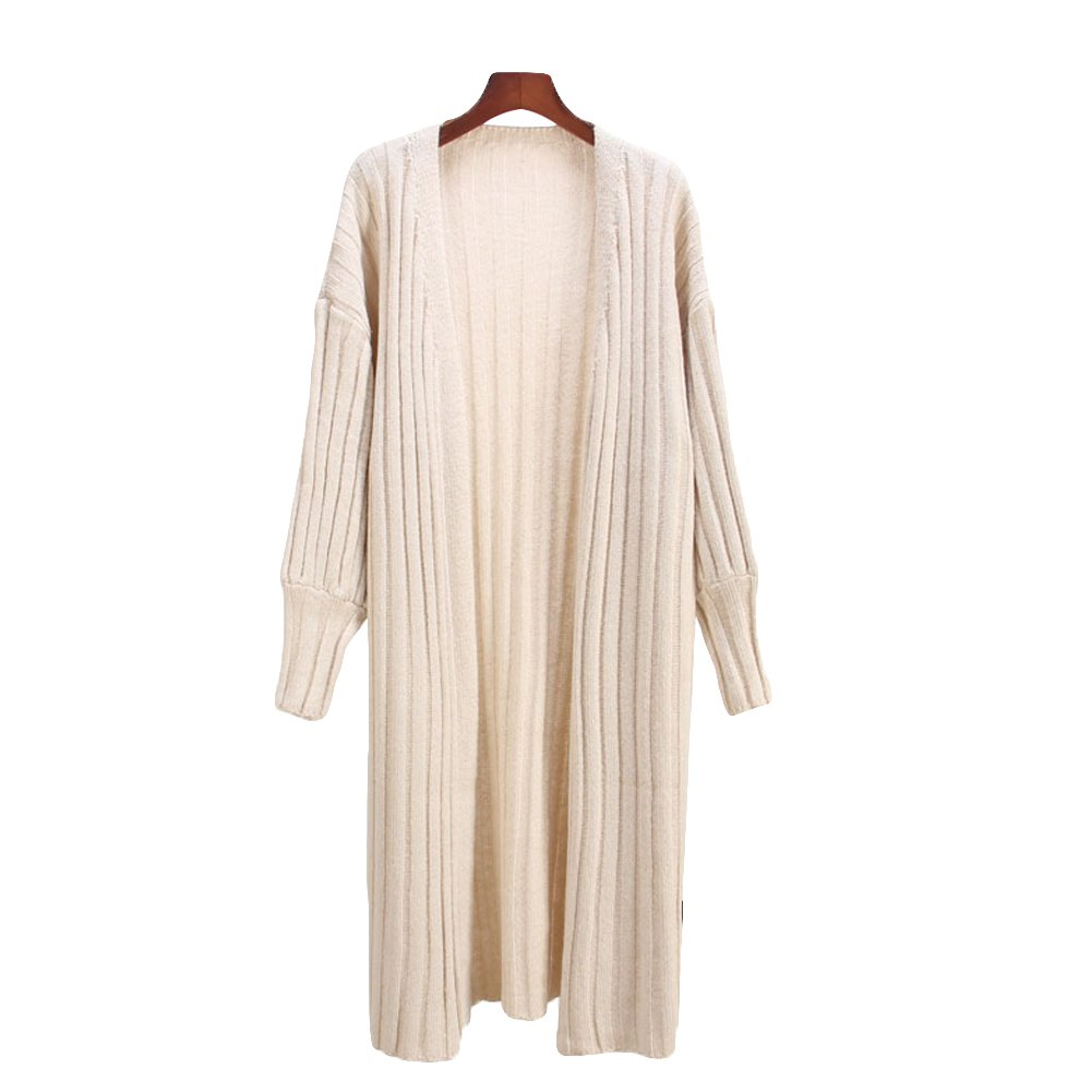 Zerlar Loose Long Knit Open Cardigan Sweater for Women ZE-CWSCOS4