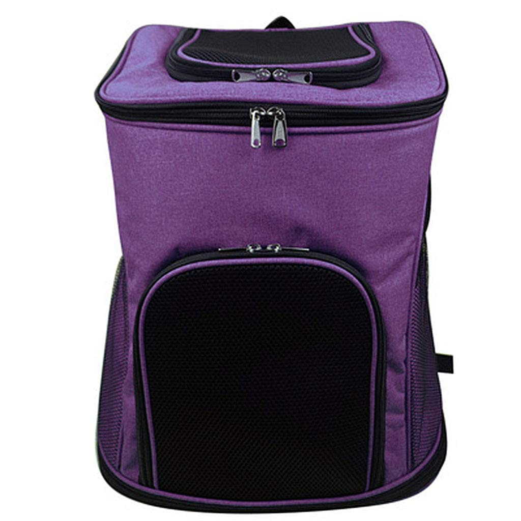 Purple SMEIHAO Pet Carrier Backpack for Dogs and Cats   Ventilated Structured Frame, Safety and Soft Cushion Back Support   Collapsible for Travel, Hiking, Outdoor