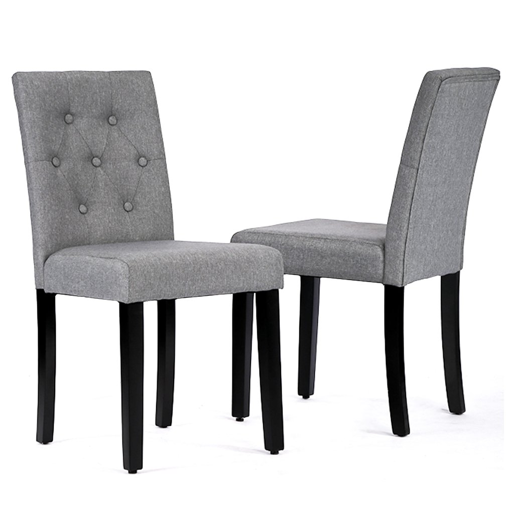 BestMassage Kitchen Room Dining Chairs Armless Chair Accent Solid Wood Modern Style For Living Home Furniture (set of 2)