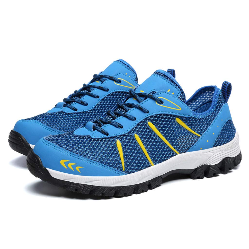 Mysky Fashion Men Popular Casual Mesh Breathable Outdoor Non-Slip Comfortable Walking Shoes Sports Hiking Shoes Blue by Mysky (Image #2)