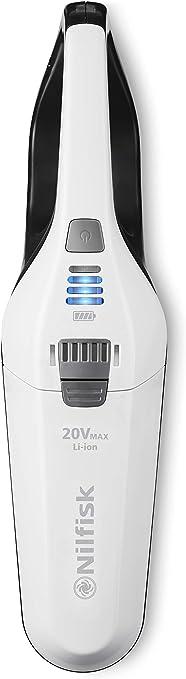 Nilfisk Escoba De Aspiración Easy 20V-Sin Bolsa Y Sin Cable, 6 litros, Plástico, Blanco: Amazon.es: Hogar