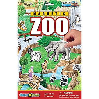 Create-A-Scene Magnetic Playset - Zoo: Toys & Games