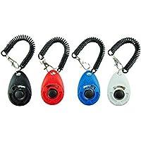 Mumoo Bear Dog Training Clicker with Wrist Strap - Pack of 4