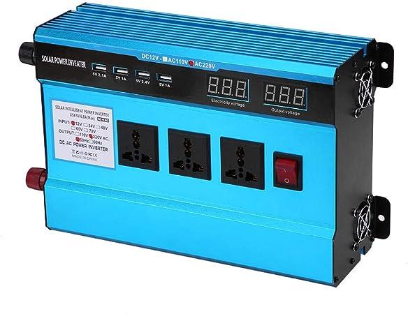 inversor de autom/óvil de 10000 W 12V a 220V Inversor de voltaje de potencia Transformador de onda sinusoidal de correcci/ón con pantalla LED para autom/óvil dom/éstico Convertidor de potencia