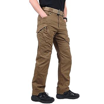 1f4e040f30862f Belloo Herren Outdoor Tactical Hose Baumwolle Cargo Hose Trousers mit  Vielen Taschen für Jagd Wandern Camping
