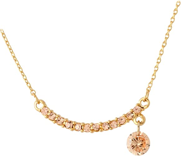 Korean Round 6 claw crystal pendant white gold filled long wave necklace jewelry