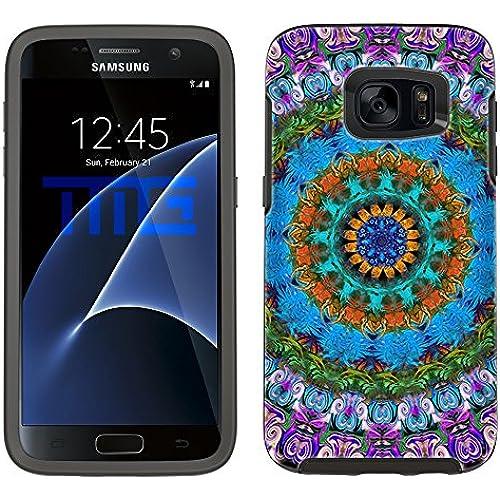 Skin Decal for Otterbox Symmetry Samsung Galaxy S7 Edge Case - Mandala Beautiful on Black Sales