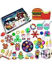iSayhong Fidget Pack Adventskalender 2021, kerst-countdown-kalender Fidget Toys Set Pack, Fidget Box verrassing geschenken voor party gunst