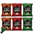 All Flavors 6 Pack 4505 Chicharrones, Fried Pork Rinds, Includes Chip Clip
