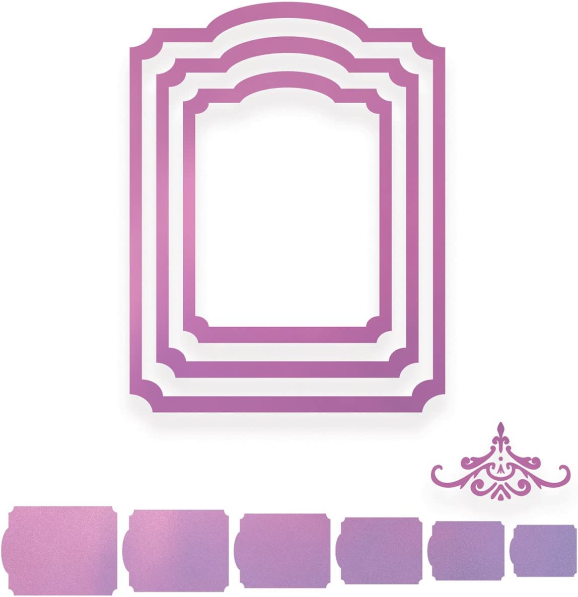 Nero Couture Creations Sweet Accenti Nesting Inverted Corner Frame Die