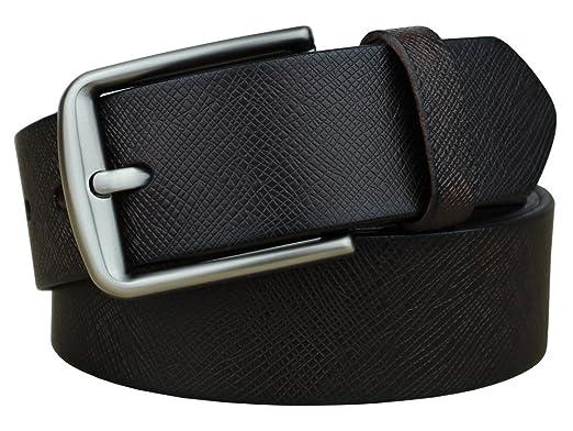 c55fa497d8 Bullko Men's Classic Jeans Belts Genuine Leather Belt Black at Amazon Men's  Clothing store: