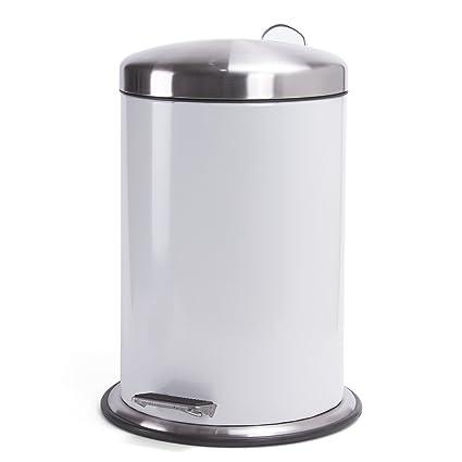 Kosmetikeimer Tretmülleimer Abfalleimer Abfallbehälter mit Deckel 3L weiß