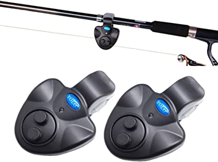Poisson électronique Bite Finder Alarme LED de Bell Clip On pêche hv2n bâto