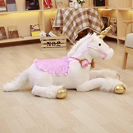 Amazon.com: Juguete de unicornio de peluche gigante de ...