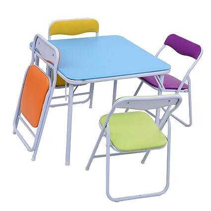 cf264b37fca Amazon.com  Selva 5 Pcs Multicolor Folding Table Chair Set