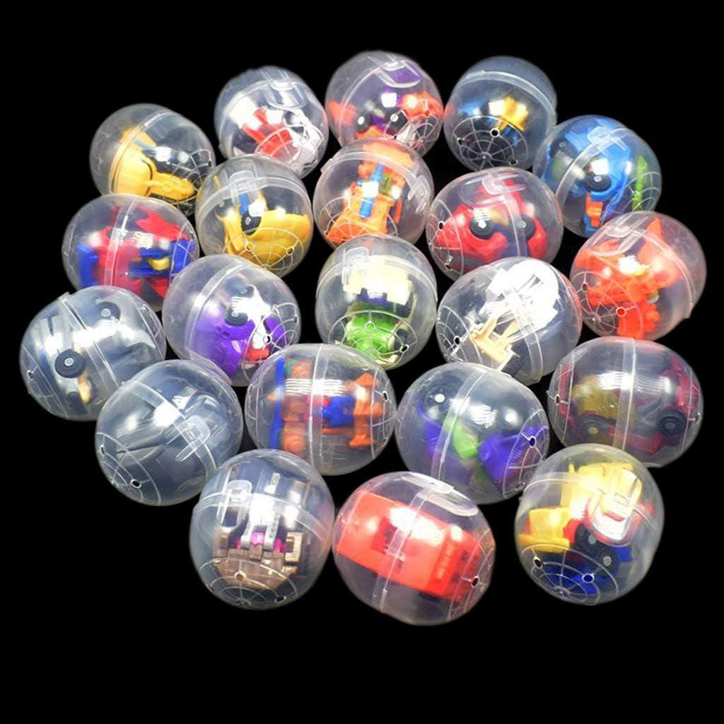 suoryisrty Los Huevos de Pascua llenan con un Mini Robot deformable, un Juguete Divertido para niños Sorpresa de una Bola Sorpresa de la muñeca