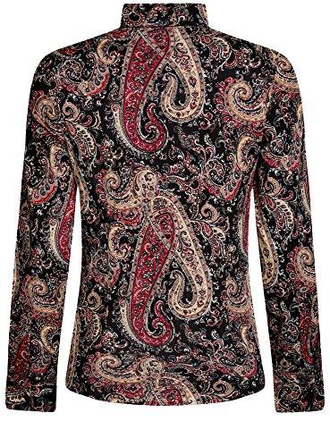oodji Collection Mujer Camisa de Algodón con Estampado Paisley Multicolor (2966E)