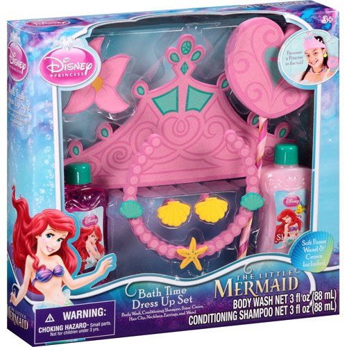 Disney Bath Princess (Disney Princess The Little Mermaid Bath Time Dress Up Set, 7 pc)