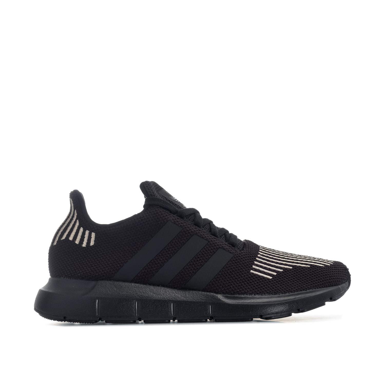 eb3ad9b22478a adidas Mens Originals Swift Run Trainers in Black- Breathable Knit Upper